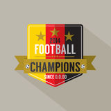 Soccer or Football Champions Badge Stock Photo