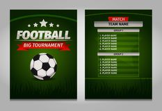 Soccer football champions final scoreboard table template Vector Royalty Free Stock Image