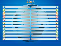 Soccer Football championships tables Stock Photo