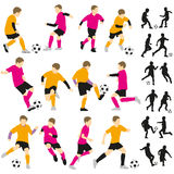 Soccer football children boys playing Royalty Free Stock Image