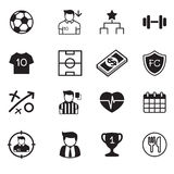 Soccer / football club buttons set Royalty Free Stock Image