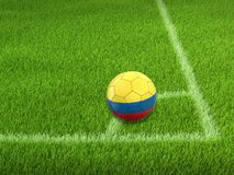 Soccer football with Colombian flag Royalty Free Stock Image