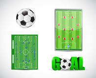 Soccer or football concept illustration design Royalty Free Stock Photos