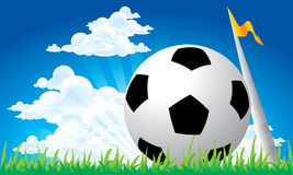 Soccer football corner kick Royalty Free Stock Images