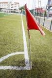 Soccer Football on Corner line Stock Image