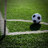 Soccer Football on Corner line for Corner kick. Stock Photography