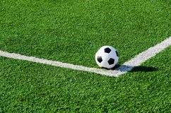 Soccer Football on Corner line for Corner kick. Stock Image