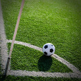 Soccer Football on Corner line for Corner kick. Stock Images