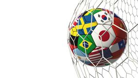 Soccer football with country flags isolated on white background royalty free illustration