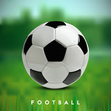 Soccer or Football 3d Ball on green background. Soccer or Football 3d Ball on green background Stock Photo