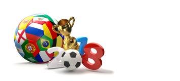 2018 soccer football 3D illustration. Design Stock Images