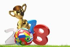 2018 soccer football 3D illustration. Design Royalty Free Stock Image