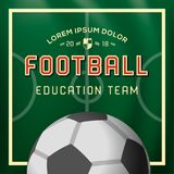 Soccer, Football design background, education team, college, school, club, vector illustration. Soccer, Football design background, education team, college Stock Photo