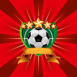 Soccer Football Emblem Stock Image