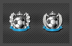 Soccer (football) emblem Stock Images