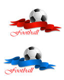 Soccer or football emblem Stock Image