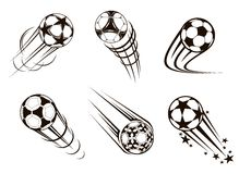 Soccer and football emblems Stock Photo
