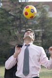 Soccer/football fever! Stock Photography