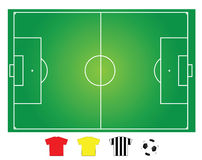 Soccer, football field. Soccer field layout to show offense and defense formation of game Royalty Free Stock Photography