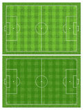 Soccer or football field Stock Photos
