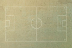 Soccer football field. On grunge paper background Royalty Free Stock Photos