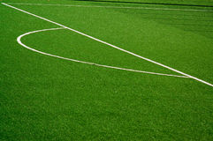 Soccer/Football field. View of green soccer/football field Stock Images