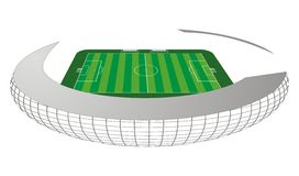 Soccer / Football field Stock Photo