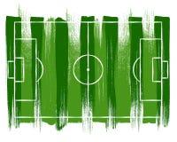 Soccer football field background vector illsutration. Stock Image