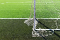 Soccer football field gate mesh. Soccer football field, gate mesh Stock Photography