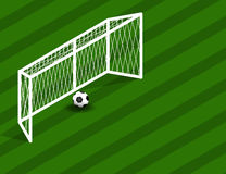 Soccer, football Field With Goal and Ball with space for Text. Vector Illustration Stock Images