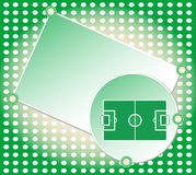 Soccer football field greetings card vector Stock Photography