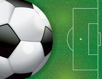 Soccer Football on Field Illustration Stock Photo