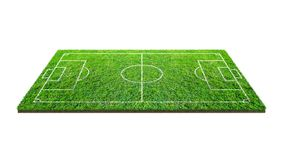 Soccer football field isolated on white background with clipping path. Soccer stadium background with line pattern and of green. Lawn field royalty free stock images