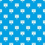 Soccer or football field scheme pattern seamless blue. Soccer or football field scheme pattern repeat seamless in blue color for any design. Vector geometric Royalty Free Stock Photos