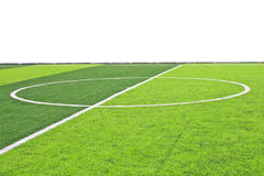 Soccer football field stadium. The circle of center Soccer football field stadium Royalty Free Stock Photo