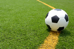 Soccer football field stadium grass Stock Photography