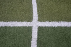 Soccer football field stadium grass line Stock Photography