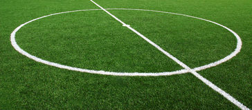 Soccer Football Field Stadium Grass Line Royalty Free Stock Photography
