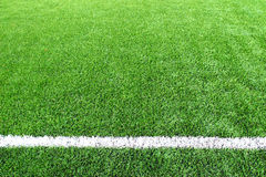 Soccer football field stadium grass line ball background texture Royalty Free Stock Photos
