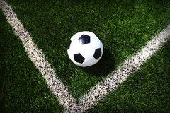 Soccer football field stadium grass line Royalty Free Stock Photos