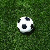 Soccer football field stadium grass line ball Stock Images