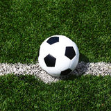 Soccer football field stadium grass line ball background texture Stock Photography