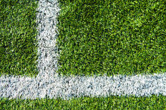 Soccer football field stadium grass line Royalty Free Stock Photo
