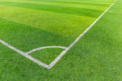 Soccer football field stadium grass line Royalty Free Stock Images
