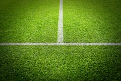Soccer football field stadium grass Royalty Free Stock Photo