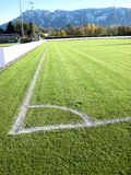 Soccer football field stadium grass Royalty Free Stock Image