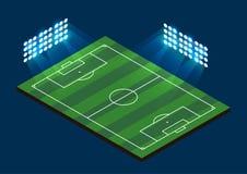 Soccer Football Field. Stadium with light. Vector illustration Royalty Free Stock Photo