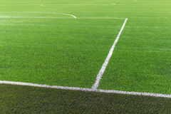 Soccer football field turf. Soccer football field green turf Stock Photos