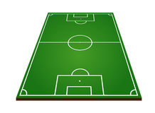Soccer or football field on white Stock Images