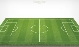 Soccer football field on white background. With perspective view pattern of grass. Soccer football field on white background. With perspective views pattern and Stock Photography